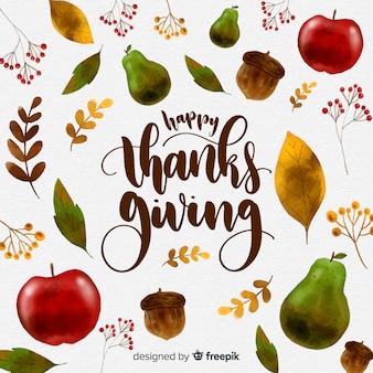 Akwarela dziękczynienia dzień tło