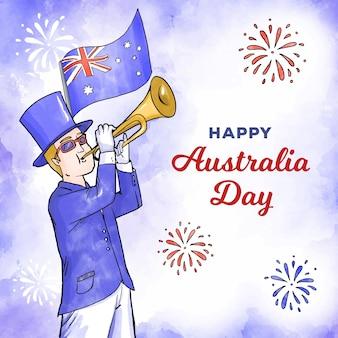 Akwarela dzień australii
