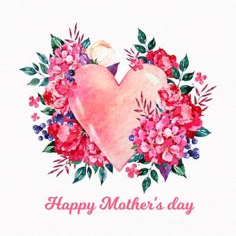 Akwarela dzień matki koncepcja