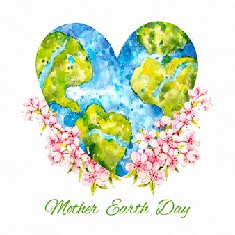 Akwarela dzień matki ziemi