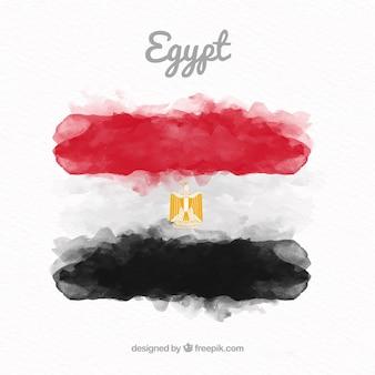 Akwarela egipski flaga compositio