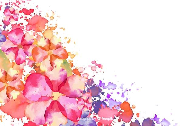 Akwarela egzotyczne kolorowe tło kwiatowy