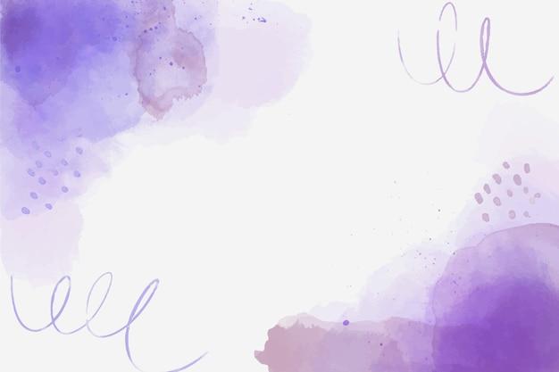 Akwarela fioletowe abstrakcyjne kształty tła