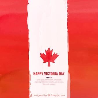 Akwarela flaga kanady tle