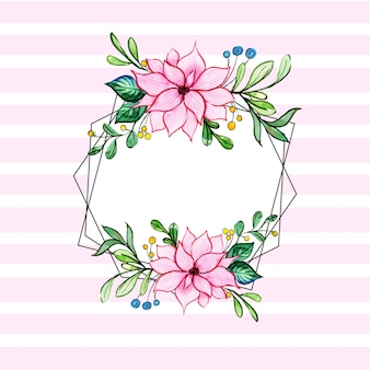 Akwarela Florals Stripes Wire Frames