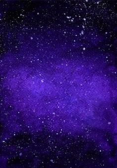 Akwarela galaktyki głębokiej przestrzeni gwiaździstej nocy tło