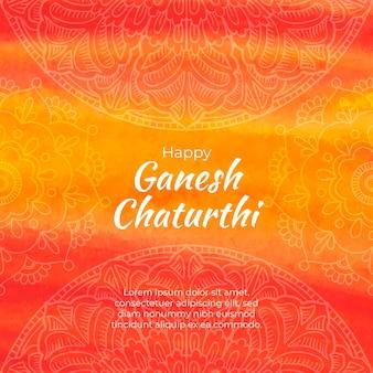Akwarela ganesh chaturthi koncepcja