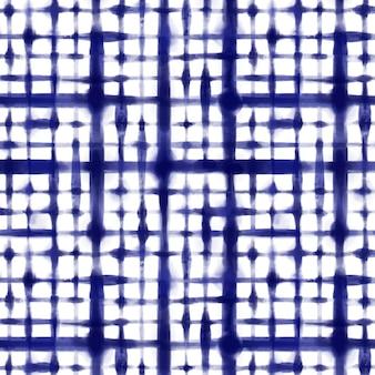 Akwarela geometryczny wzór shibori