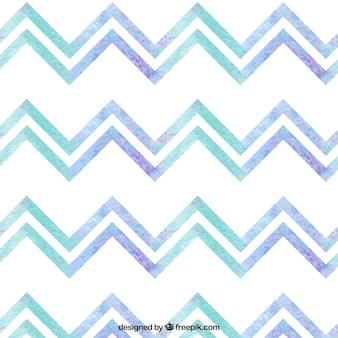 Akwarela geometryczny wzór