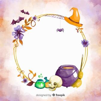 Akwarela halloween ramki z tygla