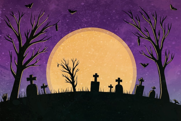 Akwarela halloween tło