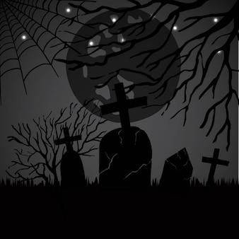 Akwarela halloween wzór tła