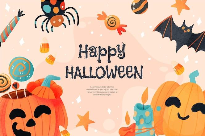 Akwarela halloweenowe tło