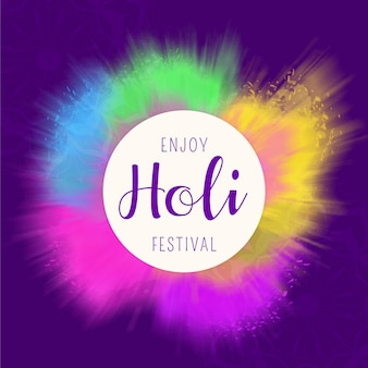 Akwarela holi festiwal tło