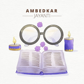 Akwarela ilustracja ambedkar jayanti