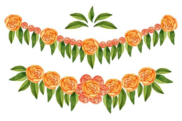 Akwarela ilustracja girlanda ugadi