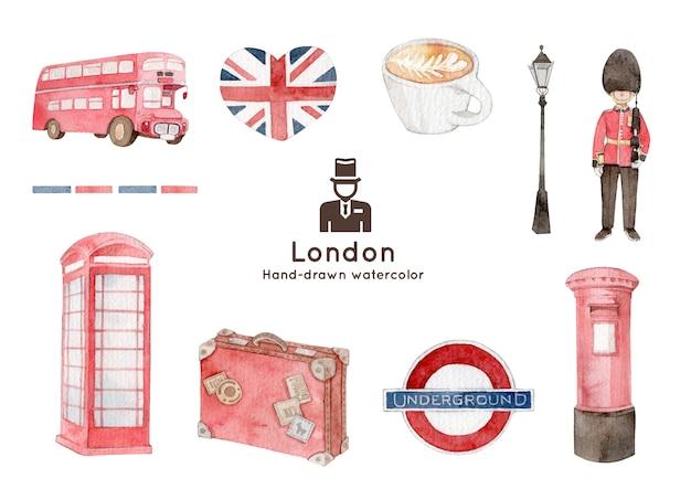 Akwarela ilustracja londyn tematu