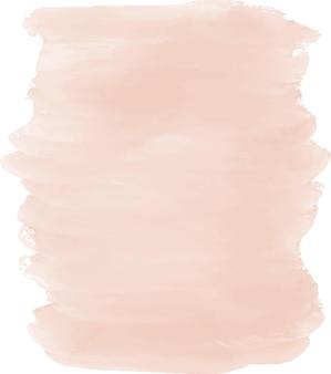 Akwarela ilustracja różowy obrysu pędzla
