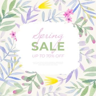 Akwarela ilustracja sprzedaż wiosna