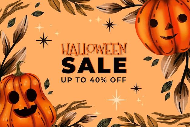 Akwarela ilustracja sprzedaży halloween