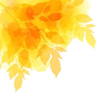 Akwarela jesienne liście