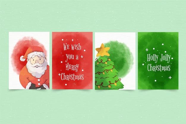 Akwarela kartki świąteczne