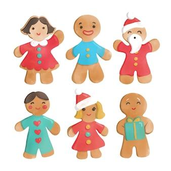 Akwarela kolekcja cookie piernika