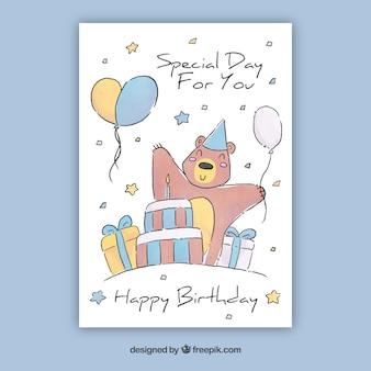 Akwarela kolekcja kartek urodzinowych