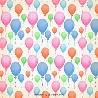 Akwarela kolorowe balony wzór