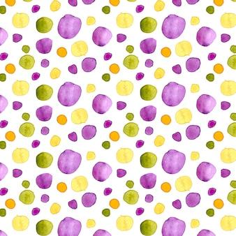 Akwarela kolorowy wzór dotty