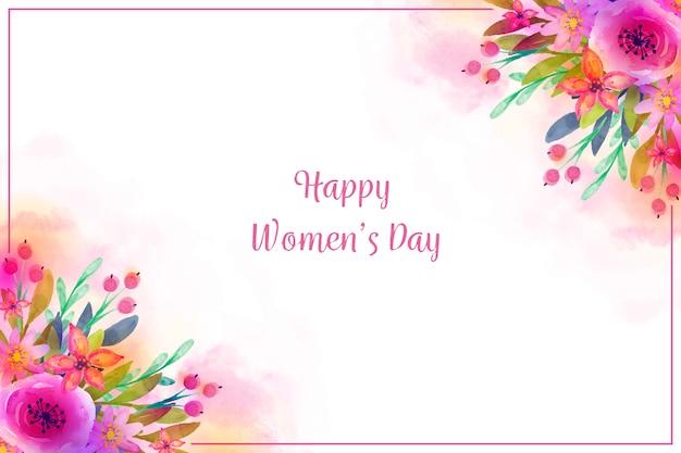 Akwarela koncepcja na dzień kobiet