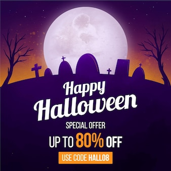 Akwarela koncepcja sprzedaży halloween