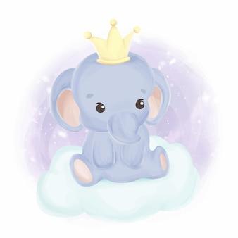 Akwarela króla słoniątka