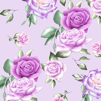 Akwarela kwiatów i liści
