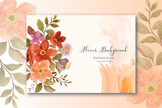 Akwarela kwiatowy karta