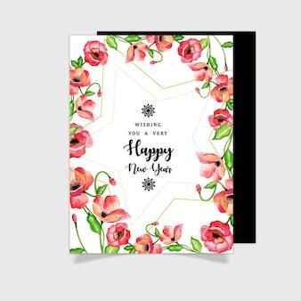 Akwarela kwiatowy kartki z życzeniami