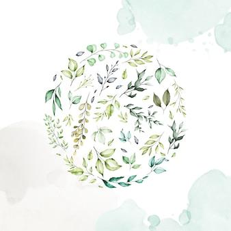Akwarela kwiatowy rama wielozadaniowy tło