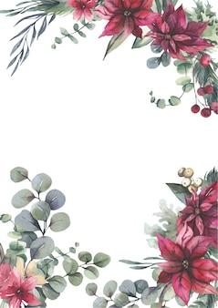 Akwarela kwiatowy rama.