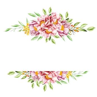 Akwarela kwiatowy ramki