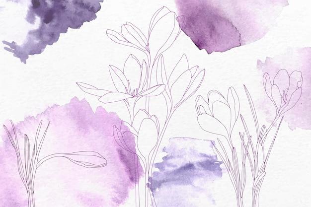 Akwarela kwiatowy tło