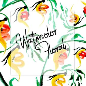 Akwarela kwiatowy uniwersalne tło