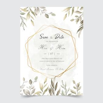 Akwarela kwiatowy wesele zaproszenie szablon karty