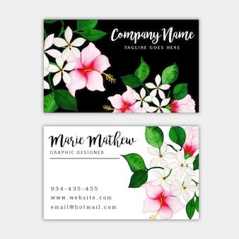 Akwarela kwiatowy wizytówkę