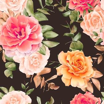 Akwarela kwiatowy wzór bez szwu