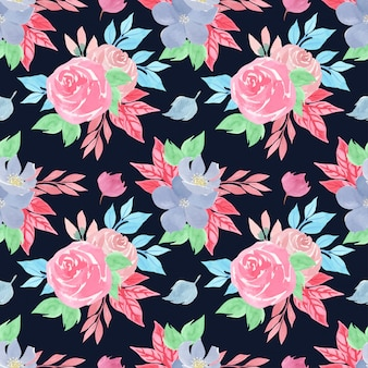Akwarela kwiatowy wzór z przepięknych róż