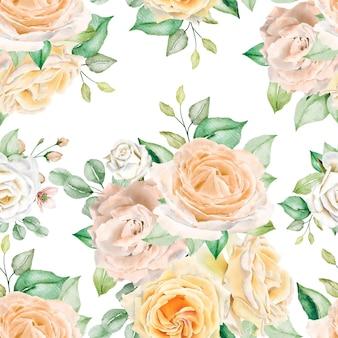 Akwarela kwiatowy wzór