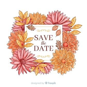 Akwarela kwiatowy zapisz datę