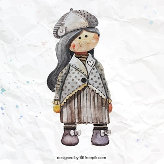 Akwarela lalki