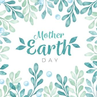 Akwarela matka dzień ziemi koncepcja