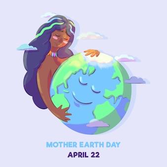 Akwarela matka dzień ziemi wydarzenie